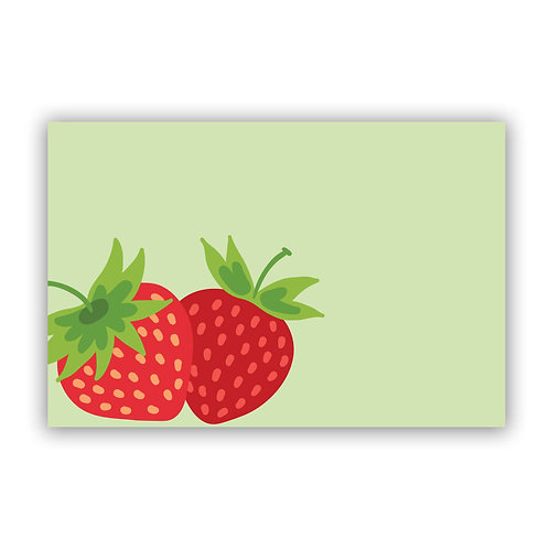 Strawberry - 4x6 Simple Note