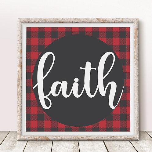 Faith (Red) Print