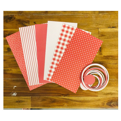 Red- White Paper & Ring Pack