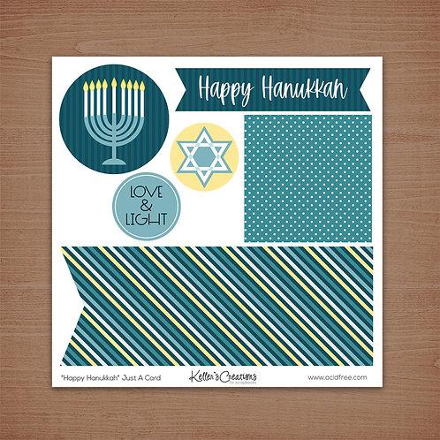 Just a Card-Happy Hanukkah