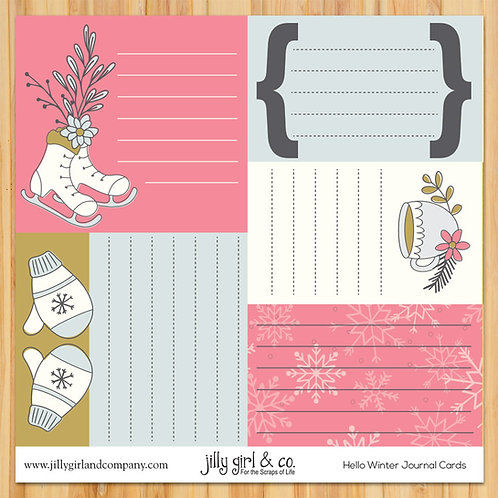 Hello Winter Journal Cards