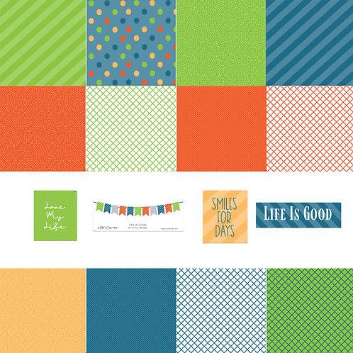 Life is Good 4x4 Fun Sheets
