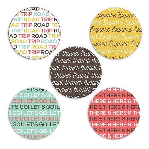 Road Trip 2-inch Circles