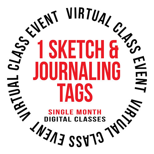 1 Sketch & Journaling Tags -Single Month