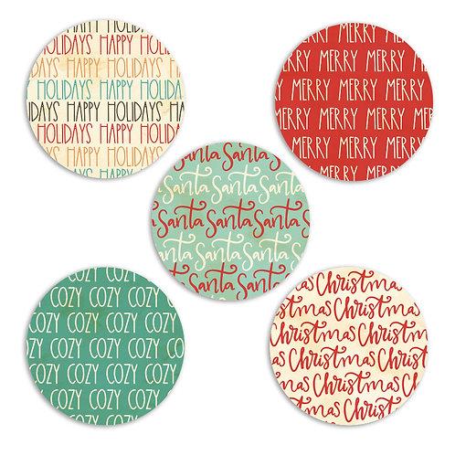 Cozy Christmas 2-inch Word Circles