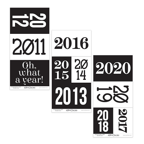 2011-2020 Decade Cards