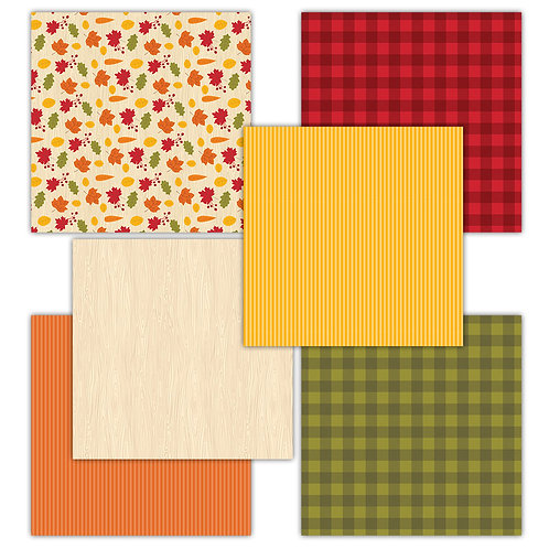 Fall Harvest 6 x 6 Fun Sheets
