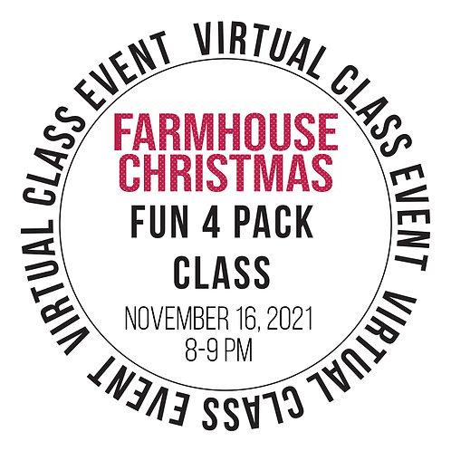 Farmhouse Christmas Fun 4 Pack Class Box