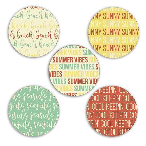 Summer Vibes 2-inch Circles