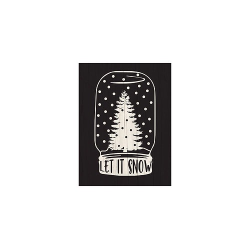 Let It Snow Flash Card