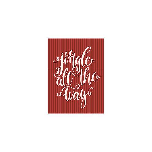 Jingle All the Way Flash Card