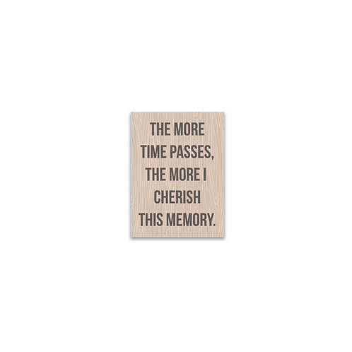 The More Time Passes... Flash Card