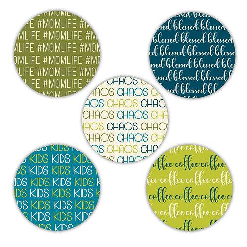 Mom Life 2-inch Circles