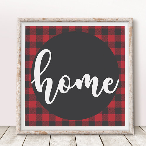 Home (Red) Print