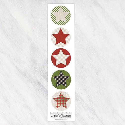 Down Home Christmas-Stars 2-inch Circles