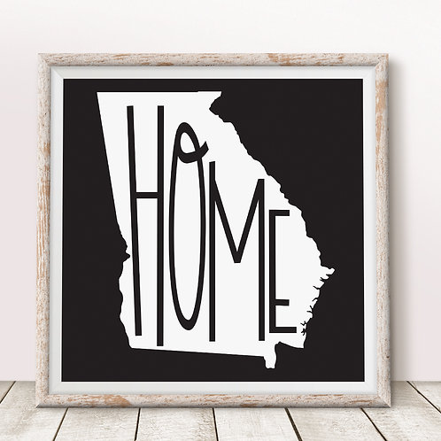 Home-Georgia Black Print