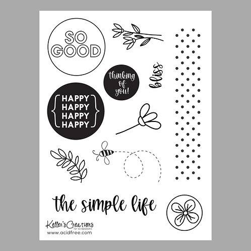 The Simple Life 6x8 Stamp Set