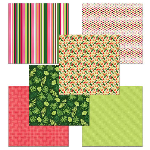Tropical 6 x 6 Fun Sheets