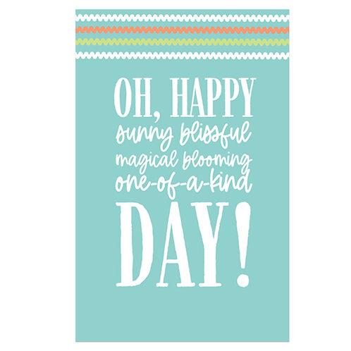 Oh, Happy Day Flash Card -4x6