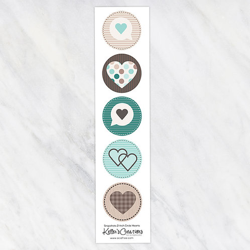 Snapshots-Hearts 2-inch Circles