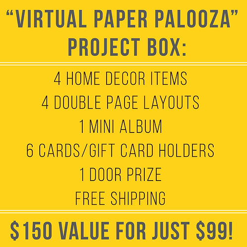 August 2021- Virtual Paper Palooza Class Box