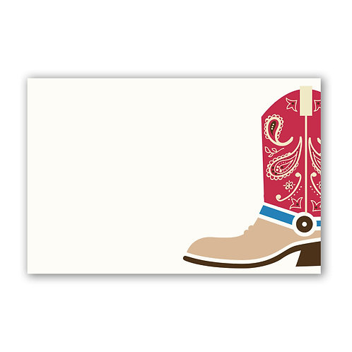 Cowboy Boot - 4x6 Simple Note