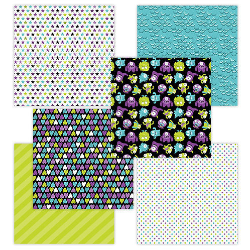 Little Monster 6 x 6 Fun Sheets