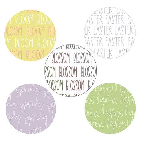 Springtime 2-inch Word Circles