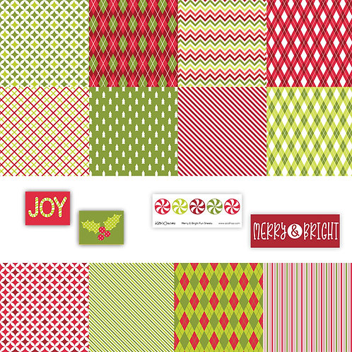Merry & Bright 4x4 Fun Sheets