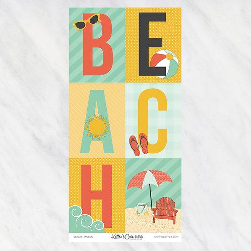 BEACH-WORDS