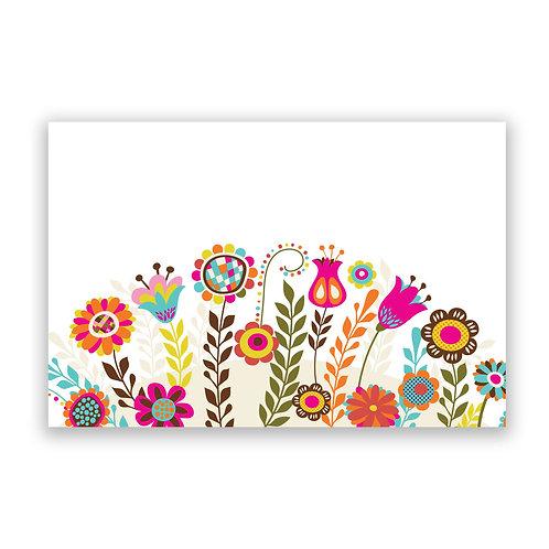 Flower Field - 4x6 Simple Note