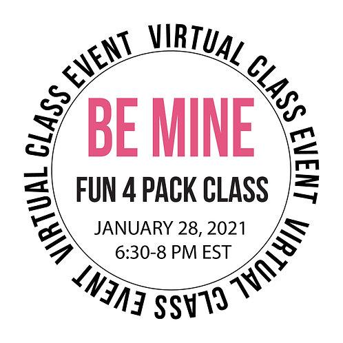 Be Mine 4 Pack Class Box