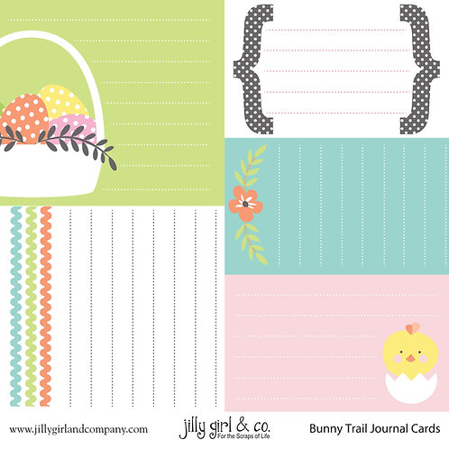 Bunny Trails Journal Cards
