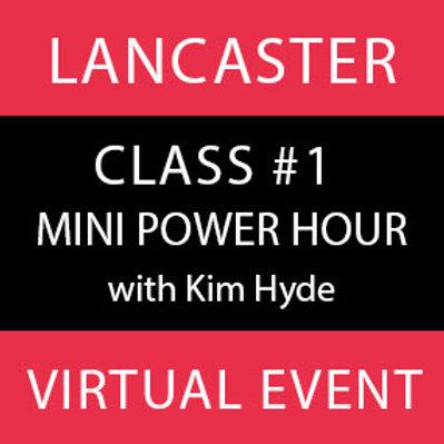Class #1-Lancaster Virtual