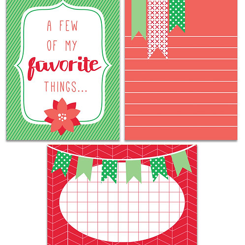 Christmas - Journal It Fast Cards