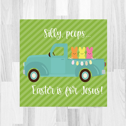 Easter Truck (Jesus) Truck Print