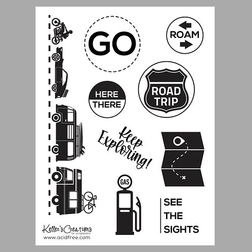 Road Trip 6x8 Stamp Set