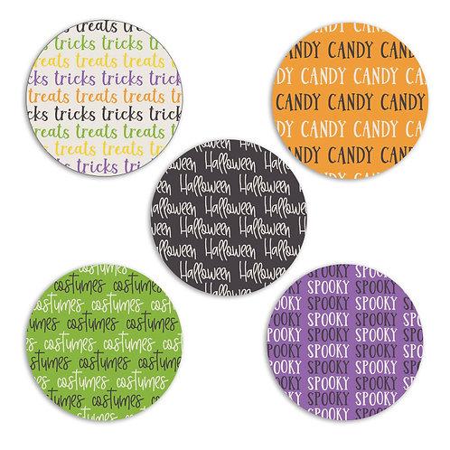 Tricks and Treats- 2-inch Word Circles