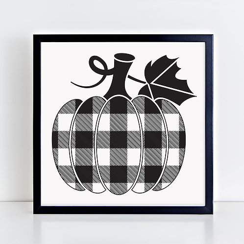 Pumpkin (checks) Print