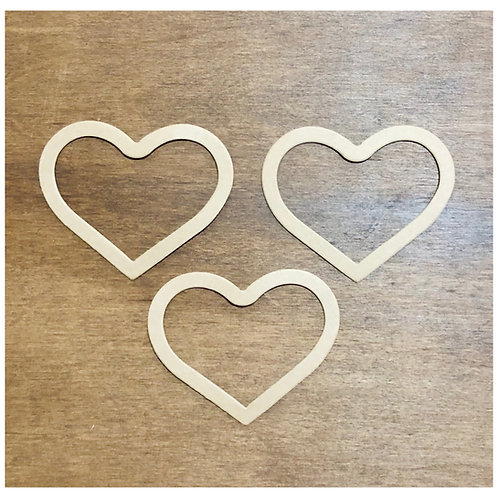 Chipboard Heart Frame Die Cuts