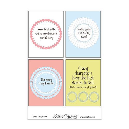 """Story Doily-3x4"""" Cards"""