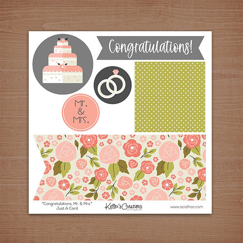 Just a Card-Congratulations Mr. and Mrs.