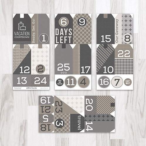 Vacation (Neutral) Countdown Tags