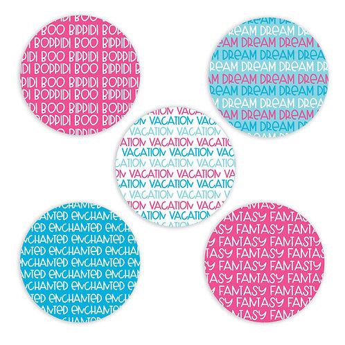 Princess- 2-inch Word Circles