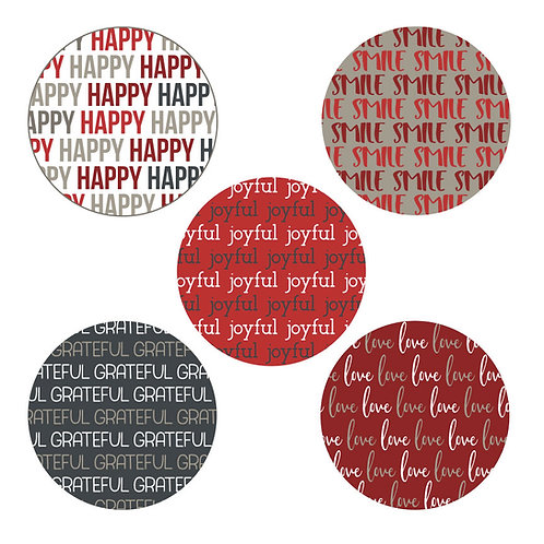 Joyful Heart 2-inch Circles