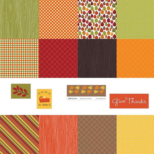 Happy Fall 4x4 Fun Sheets