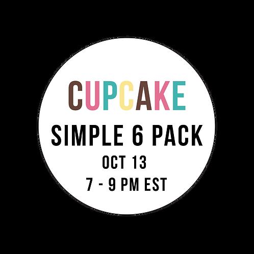 Cupcake Simple 6  Pack Class Box