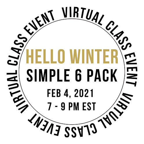 Hello Winter Simple 6 Pack Class Box