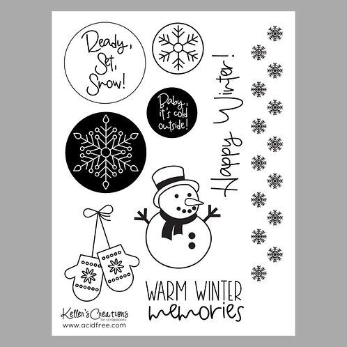 Warm Winter Memories 6x8 Stamp Set