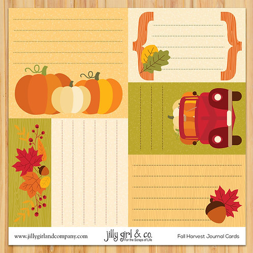 Fall Harvest Journal Cards